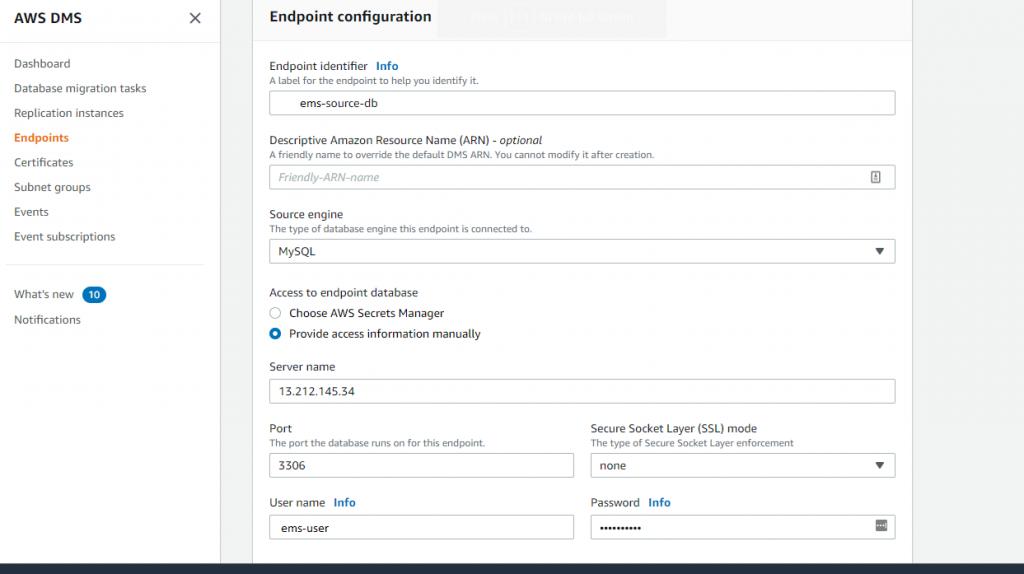 Endpoint Configuration